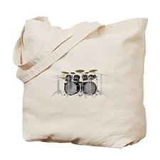 Large Drum Kit: Black Tote Bag