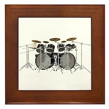 Large Drum Kit: Black Framed Tile
