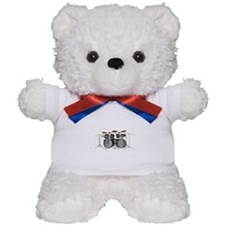 Large Drum Kit: Black Teddy Bear