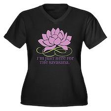 yoga_savasan Women's Plus Size Dark V-Neck T-Shirt