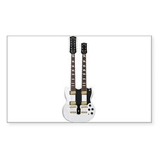 Doubleneck Guitar White Finish: Vector Art Decal