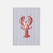 vintage red lobster navy stripes na 5'x7'Area Rug