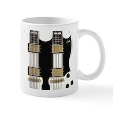 Doubleneck Guitar White Finish: 3D Model Mugs