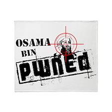 Osama Bin PWNED Throw Blanket