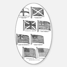 us flag evolution Decal