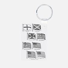 us flag evolution Keychains