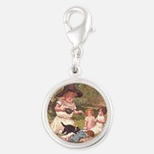 Round the Hearth  Silver Round Charm