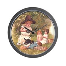 Round the Hearth  Wall Clock