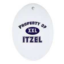 Property of itzel Oval Ornament