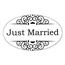 Just Married in Black Decal