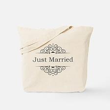Just Married in Black Tote Bag