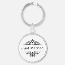 Just Married in Black Keychains