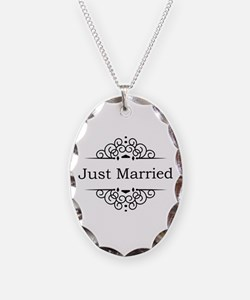 Just Married in Black Necklace