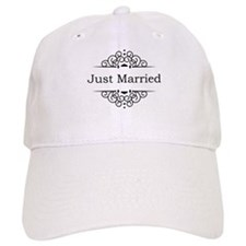 Just Married in Black Baseball Cap