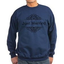 Just Married in Black Jumper Sweater