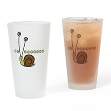 Be Awesome snail children Drinking Glass