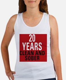 20 Years Clean and Sober Women's Tank Top