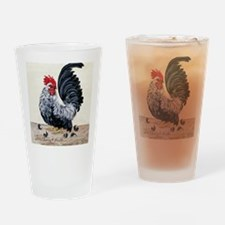 1 chicken card Tail Drinking Glass