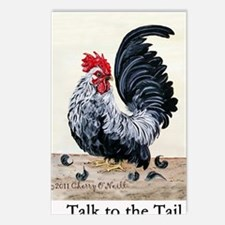 1 chicken card Tail Postcards (Package of 8)