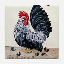 1 chicken card Tail Tile Coaster