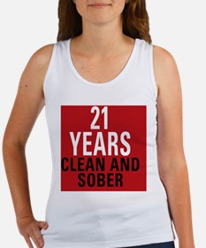 21 Years Clean and Sober Women's Tank Top