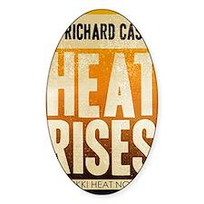castle-retro-heat-rises Sticker (Oval)