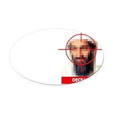 Osama Bin Laden - yes we did Oval Car Magnet