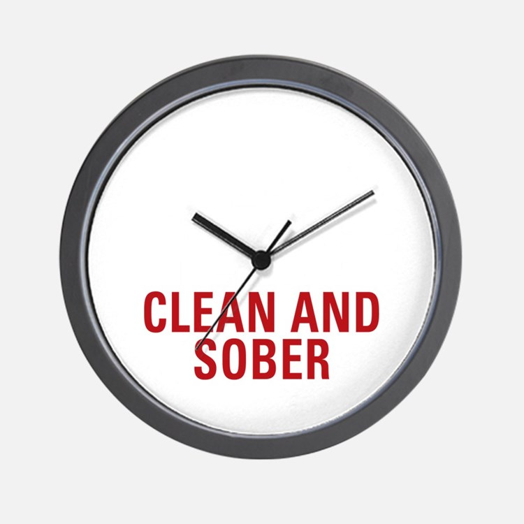 25 Years Clean and Sober! Wall Clock