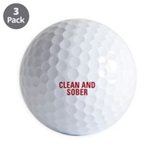25 Years Clean and Sober! Golf Ball