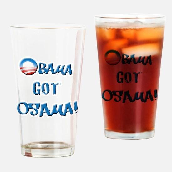 obamawhiteblue Drinking Glass