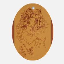 Chow_Chow_KlineY Oval Ornament