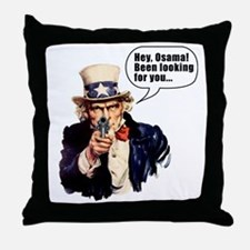 Uncle_Sams_Back2 Throw Pillow
