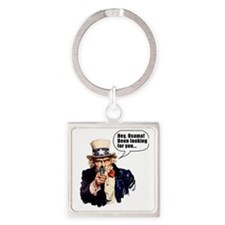 Uncle_Sams_Back2 Square Keychain