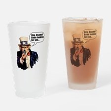 Uncle_Sams_Back2 Drinking Glass