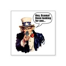 "Uncle_Sams_Back2 Square Sticker 3"" x 3"""