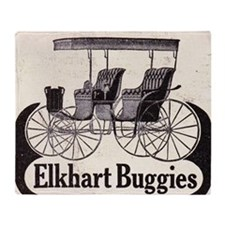 1909 Elkhart  Buggy Ad Throw Blanket