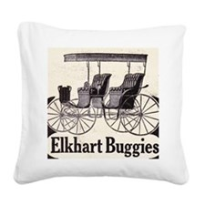 1909 Elkhart  Buggy Ad Square Canvas Pillow