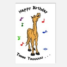 Pony Singing Birthday Postcards (Package of 8)