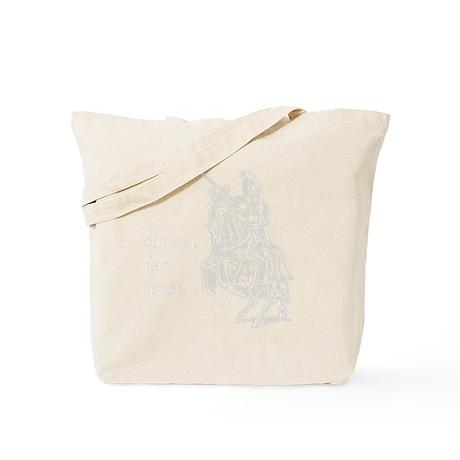 Tee-10x10_Dark_Shut_Up_and_Joust Tote Bag