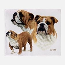 Bulldog Ready to print Throw Blanket