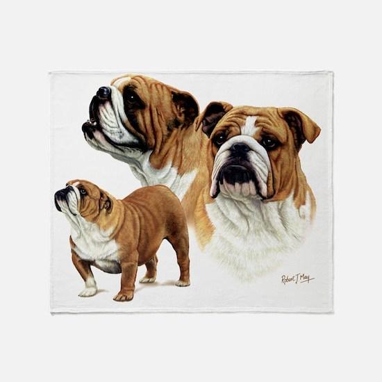 Bulldog Ready to print Throw Blanket