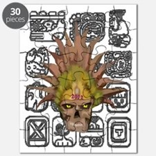 mayan skull with glyphs Puzzle