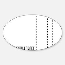 September 11 th attacks Sticker (Oval)