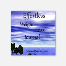 "effortless weight loss jour Square Sticker 3"" x 3"""