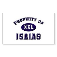 Property of isaias Rectangle Decal