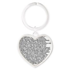 aron front white Heart Keychain