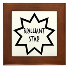 Brilliant Star Framed Tile