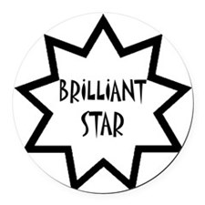 Brilliant Star Round Car Magnet