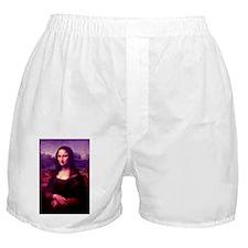 Purple Mona Lisa Boxer Shorts