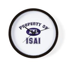 Property of isai Wall Clock